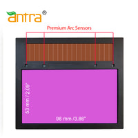Antra™ AntFi X60-3 Solar Power Auto Darkening Lens Shade 4/5-9/9-13, good for TIG,MIG,MMA,Plasma Cutting