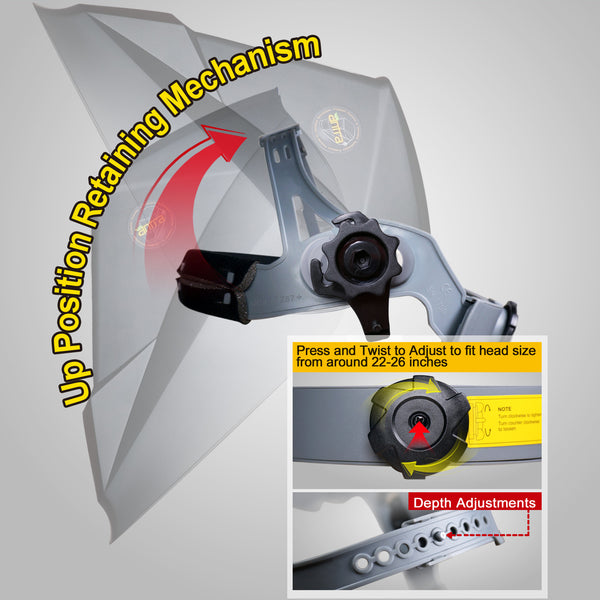 Plasma Solar-Lithium Dual Power Grinding Viewing Size 3.86X3.23 wide shade range 4//5-9//9-13 Great for TIG Top Optical Class 1//1//1//1 Antra X90 Digital Auto Darkening Welding Lens MIG//MAG MMA