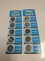 10 Pack of CR2032 Lithium Batteries 3V for Antra Helmets