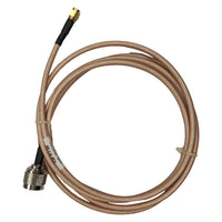 6' Low loss RG142 Pigtail cable N-Type Male to RP-SMA Male for WiFi and other communications