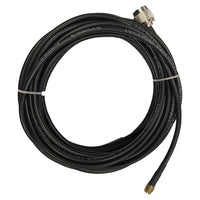 25' Low loss RG58 Pigtail cable N-Type Male to RP-SMA Male for WiFi and other communications