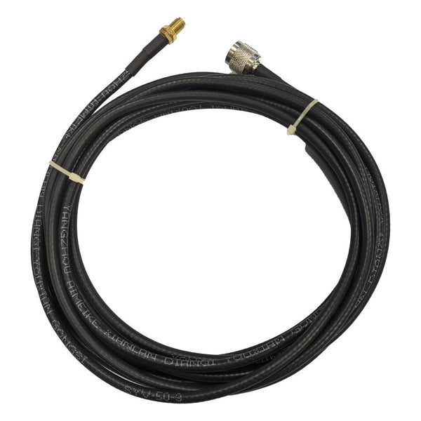 15' Low loss RG58 Pigtail cable TNC Male to RP-SMA Female for WiFi and other communications