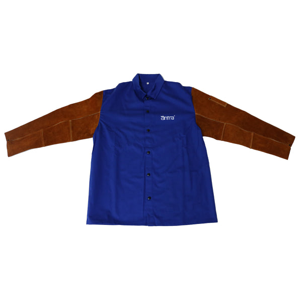 Antra™Flame Resistant Cotton Welding Jacket with Split Cowhide Sleeves