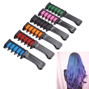 6pc Shimmer Hair Chalk Combs - EZUSBUY