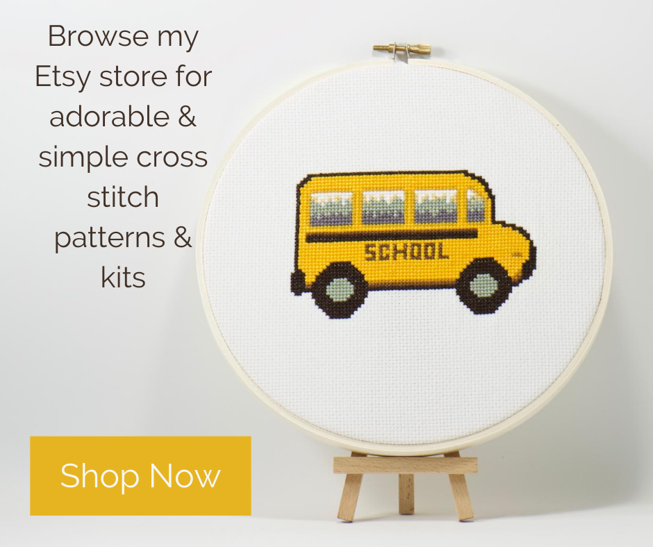 simple modern cross stitch patterns and kits