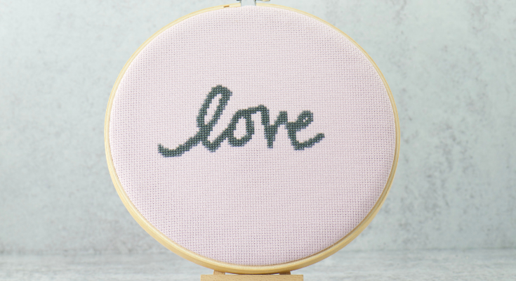 love word of the year cross stitch pattern