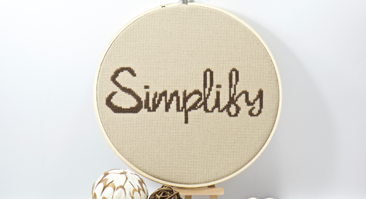 simplify word of the year cross stitch pattern