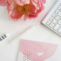 Tinker Tailor Online pink flower office inspiration