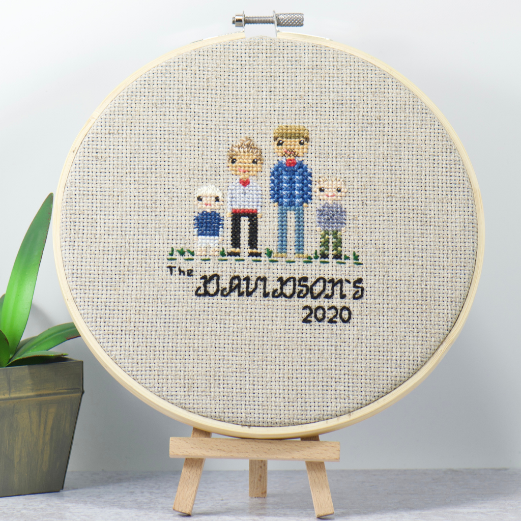 Family Stitch Portrait