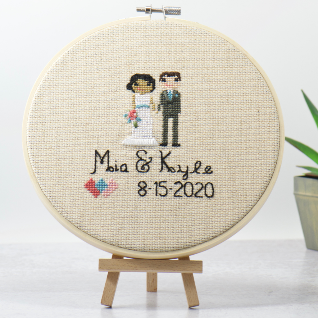 Wedding Stitch Portrait