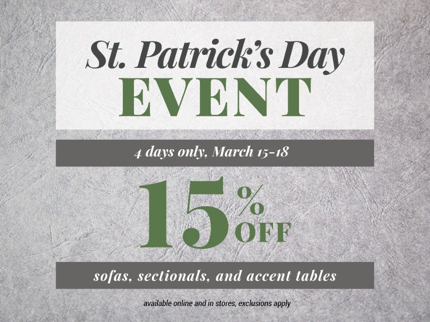A Pot of Gold For You: St. Patrick's Day Savings Event