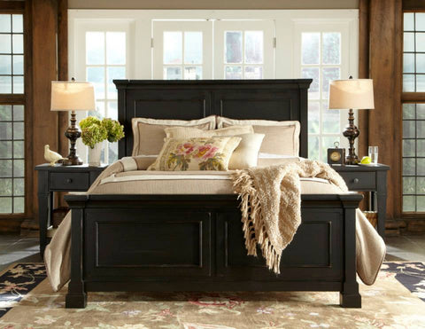 Stash Home Antique Black Queen Panel Bed That is Marked Down for Presidents' Day