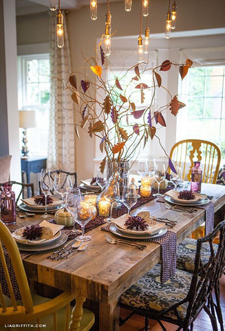 Thanksgiving Table with Table Runner