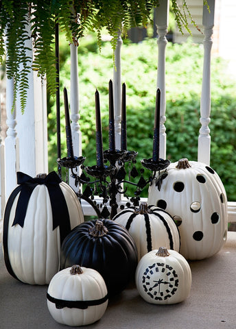 Black and White Halloween Pumpkins