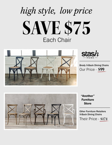Save on the X-Back Dining Chair | Stash Home