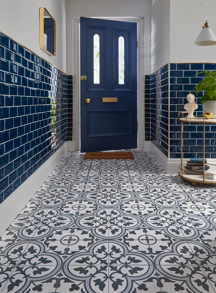 Classic Blue Tile Walls and Floor