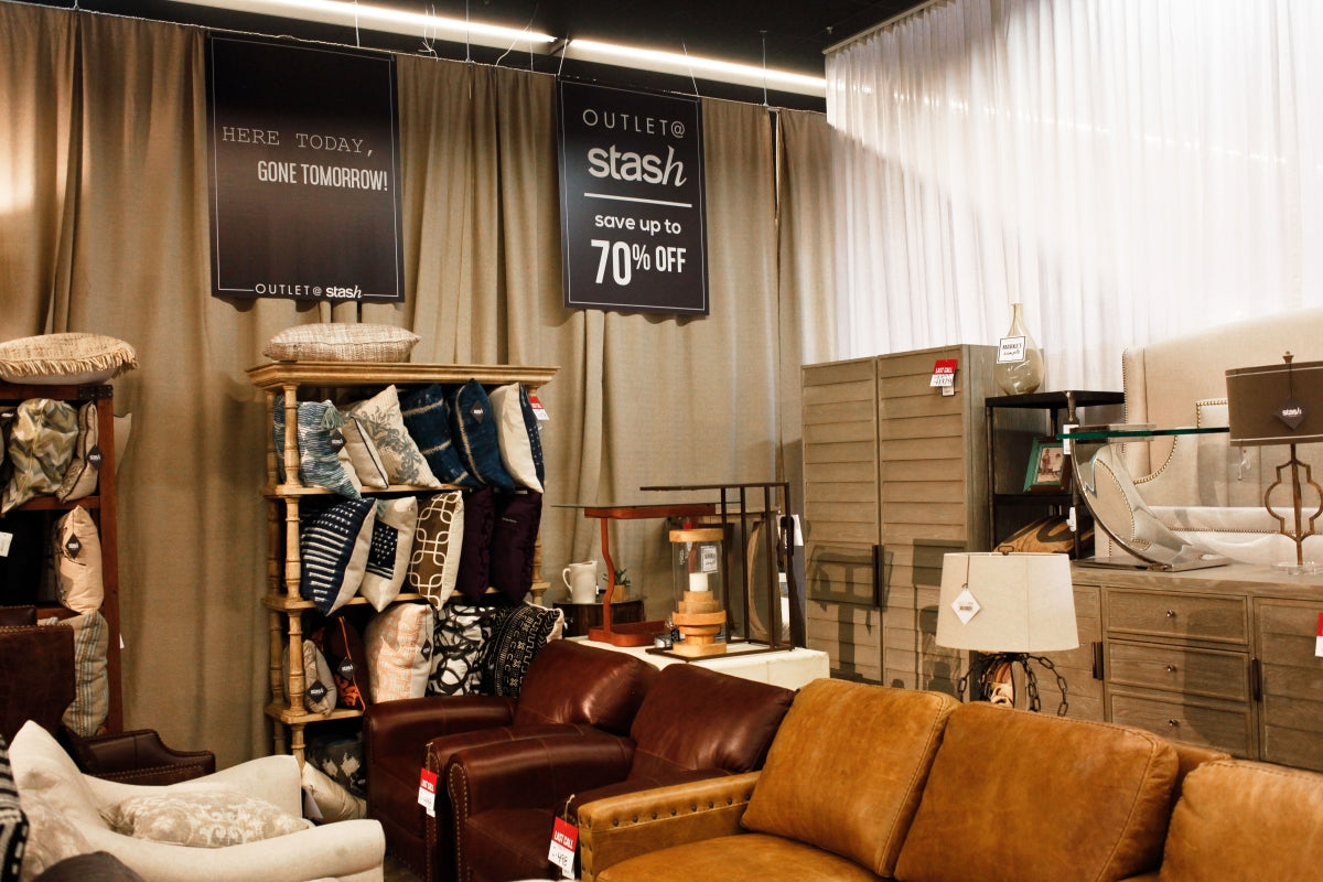 Sofas, Chairs, Pillows at The Outlet @ Stash
