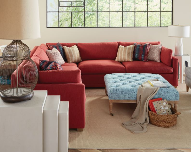 Rowe Sylvie Red Sectional