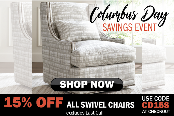 15% off swivel chairs for Columbus Day | Stash Home