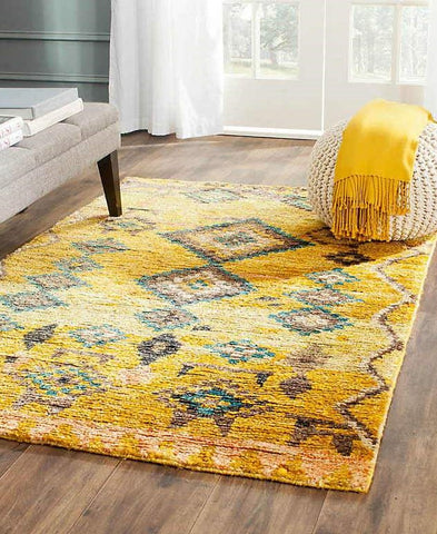 Tangier Gold, Hemp and Wool Rug