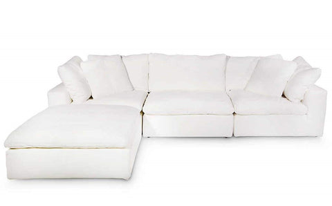 Stratus Lilly White 4 Piece Modular Sectional