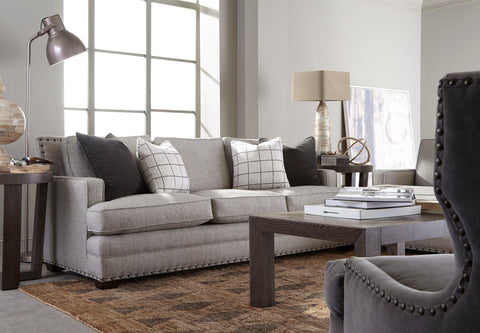 Stash Home Carson Sofa with Gray Fabric for Presidents' Day Sale