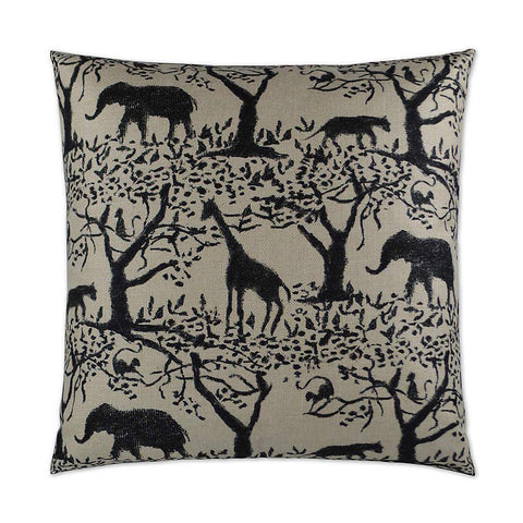Taro Elephants, Giraffs, and Monkeys Jungle Pillow