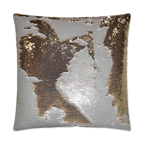 Metallic Sequined Throw Pillow | Stash Home