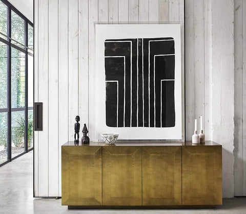 Gold, Old Hollywood Meets Modern Freda Sideboard | Stash Home