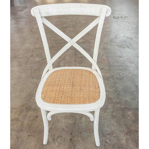 Brody White X-Back Chair | Stash Home