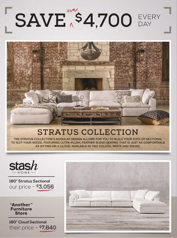 Stratus Lilly White 4 Piece Modular Sectional | Stash Home