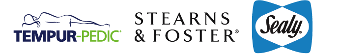 Tempur-Pedic, Sealy, and Stearns and Foster logo