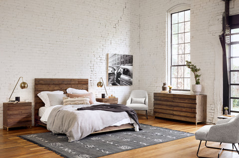 White brick bedroom wall