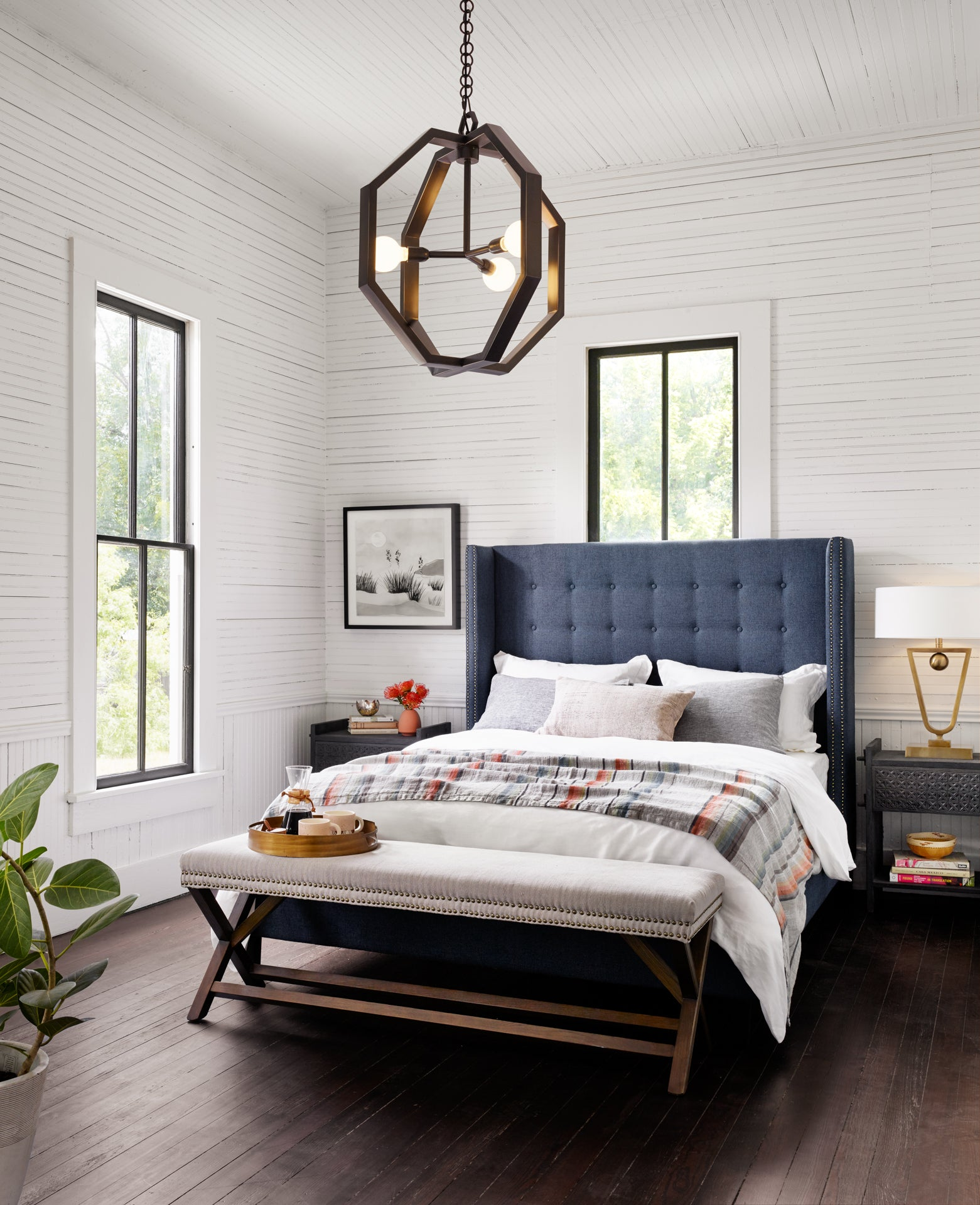 Austin Jefferson Navy Bed