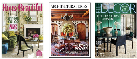 Visual Comfort Lighting in Architectural Digest, Elle Décor, and House Beautiful