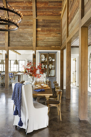 Dining Room in Cloverfield Farm Barn-Inspired Home