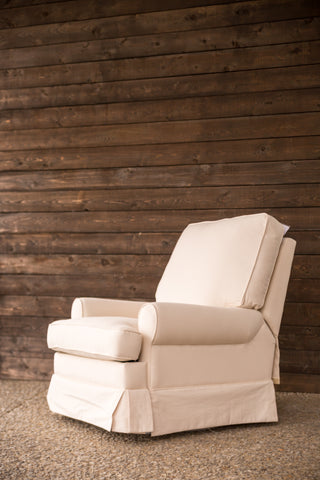 Slipcover swivel rocker recliner