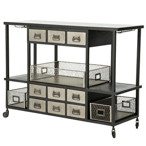 Industrial Bar Cart - Stash Home