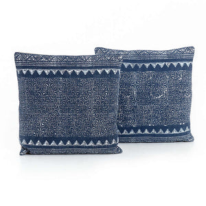 Tribal Print Indigo Pillow-Pair
