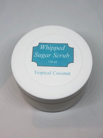 Tropical Coconut Whipped Sugar Scrub