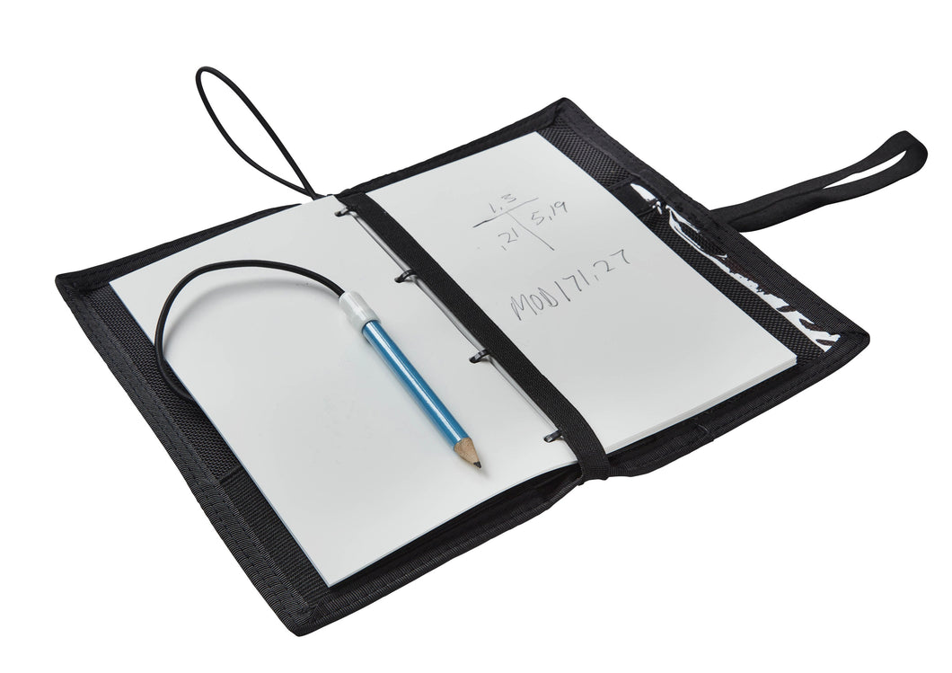 OMS Diver's Notebook including Underwater Paper, with Table Windows, Pockets, Pencil Holders & Pencil