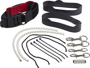 "OMS SM Rigging Kit (includes 1 Cam Band, 1 Triglide, 2 Bolt Snaps (4.5"") with Cord & 2 OMS Rubber Bands)"