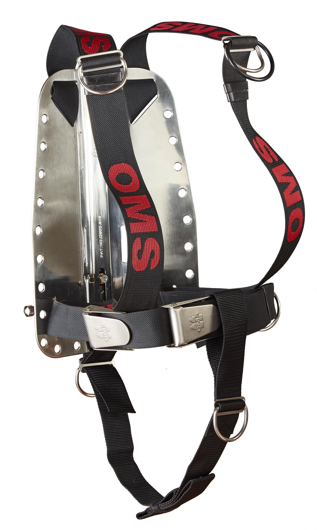 OMS SS Backplate with Complete Continuous Weave (DIR) Secure Harness & Crotch Strap