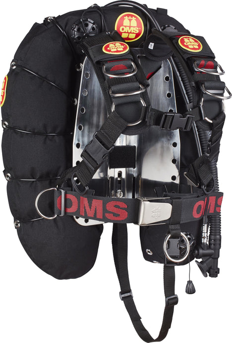45 lb (20 kg) Comfort Harness II with Steel Backplate Deep Ocean