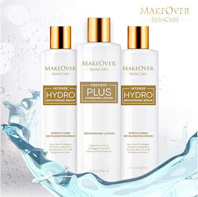 MakeOver SkinCare Bundle - Intense Hydro Brightening Serum - Stretch Mark Removal + Prevent Plus – Stretch Marks & Scar Prevention