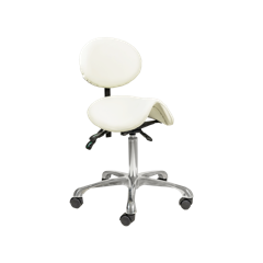 Dermapeu Technician stool for nail salon beauty stool backrest adjustable