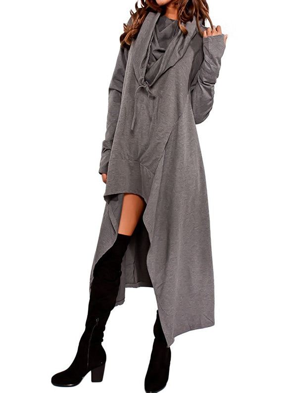 'The Assassin' Asymmetric Hooded Tunic Sweatshirt Top, Hoodies & Sweatshirts - Planet Moonbow