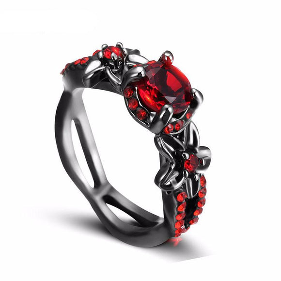 Dark Enchanted Ruby Ring, Rings - Planet Moonbow