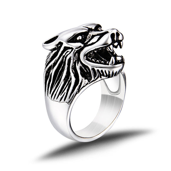 Norse Wolf Talisman Ring, Rings - Planet Moonbow