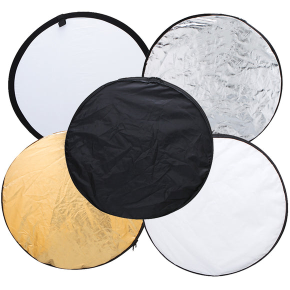 5 in 1 Portable & Collapsible Photography Reflector Disc - 24